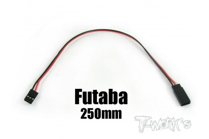 EA-006 FUTABA EXTENSION WITH 22 AWG HEAVY WIRES 250MM